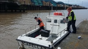 Prepping to survey the river Adur