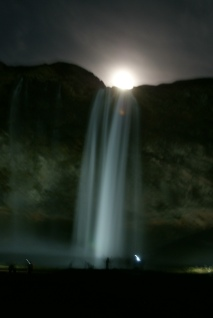 Moonrise in Iceland